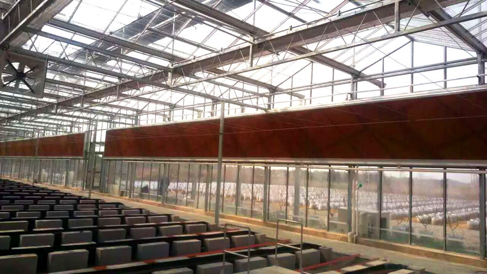 greenhouse cooling pad, greenhouse cooling wall, evaporation cooling wall