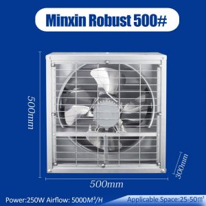 3000CFM wall exhaust fan, high speed exhaust fan, wall exhaust fan